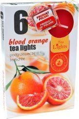 Čajová svíčka - červený pomeranč