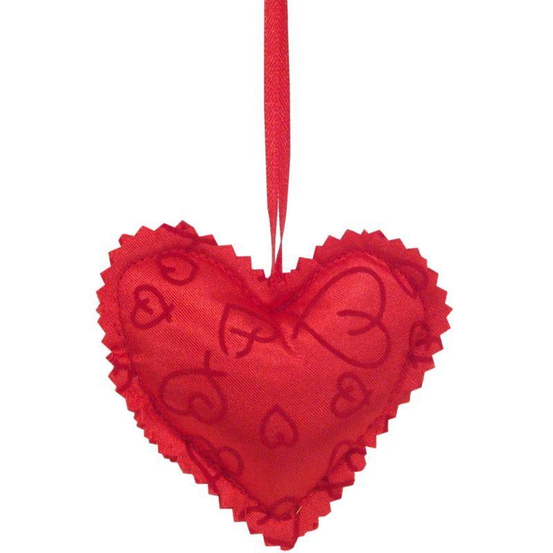 Srdce látkové závěs