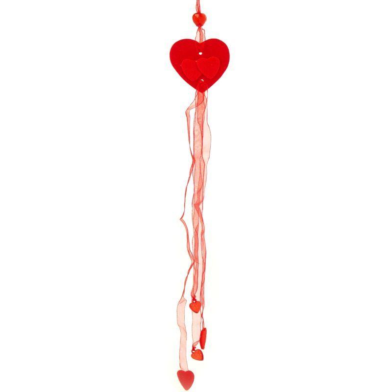 Srdce závěs filc