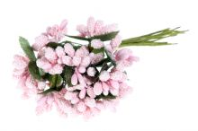 Přízdoby x12 - sv. růžová
