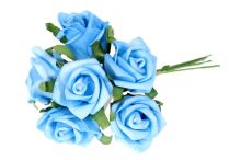 Růže pěnová x6 - modrá