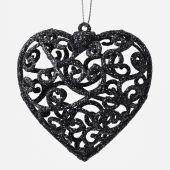 Srdce plast ornament S/2