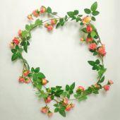 Růže girlanda - tm. růžová