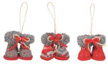 Boty pletené - červená