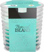 Svíčka ve skle - tropický ostrov