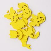 Dekorace pěnová S/12 , MIX - žlutá