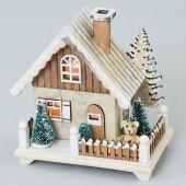 Domek dřevo - LED