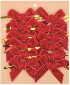 Mašle samet S/12 - červená