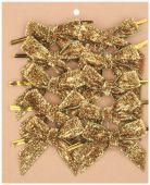 Mašle třpytivá S/12 - zlatá