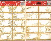 Jmenovky na dárky 10 ks - zlatá