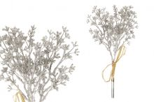 Větvička vánoční x3 - stříbrná