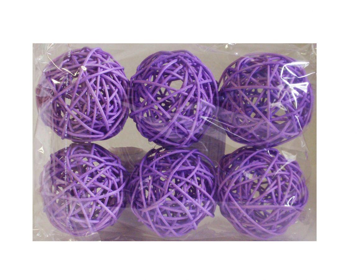 Ratanové koule fialové