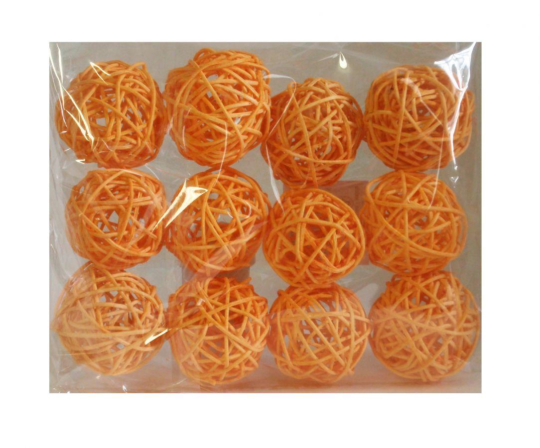 Ratanové koule oranžové