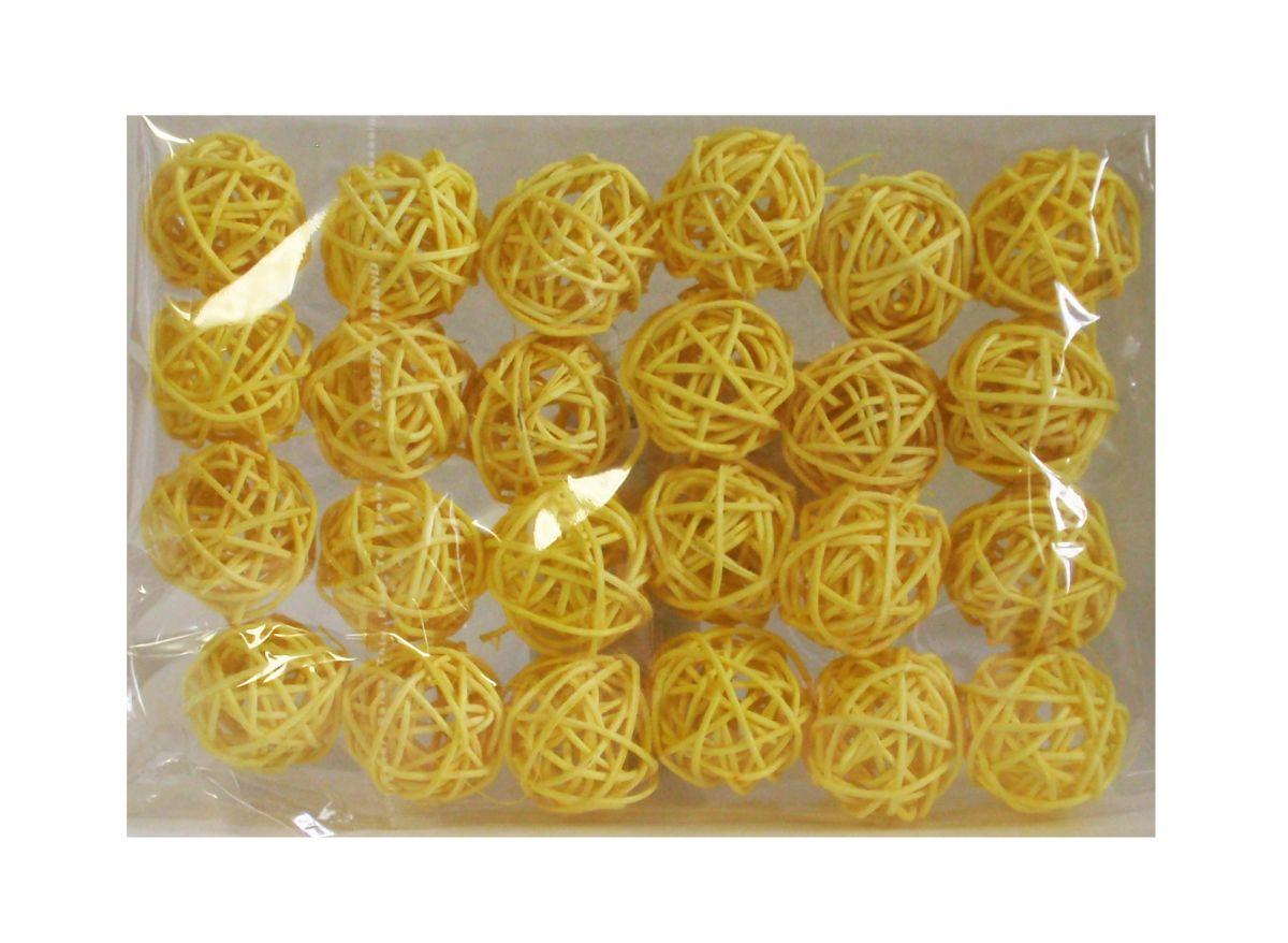 Ratanové kuličky žluté