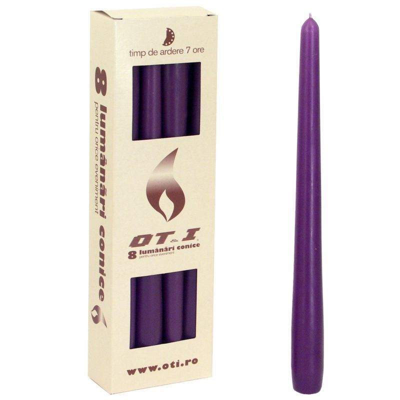 Svíčka kónická - fialová tmavá