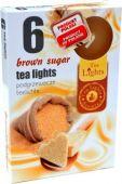 Čajová svíčka - hnědý cukr